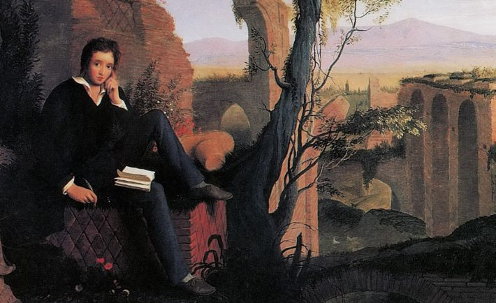 joseph severn posthumous portrait of shelley writing prometheus unbound 1845