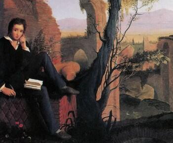 joseph severn posthumous portrait of shelley writing prometheus unbound 1845